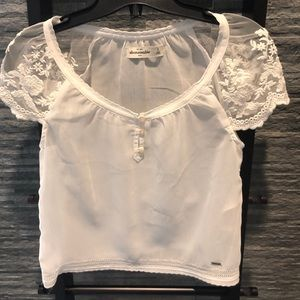 NWOT Abercrombie Kids Sheer Lace Top